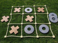 DIY: This wooden noughts and crosses set will be a hit during the holidays