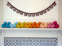 Create Christmas baubles for your mantelpiece in a rainbow of colours