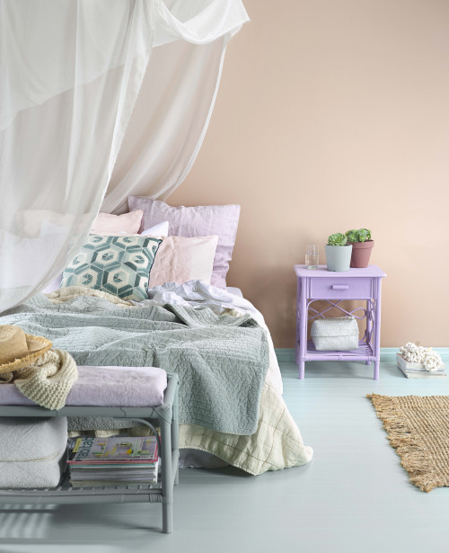 bedroom, pastel, nude, pink, blush, interior trends