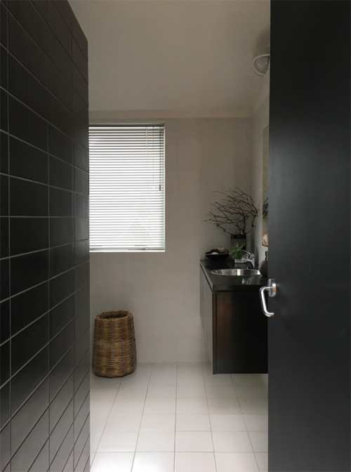 grey, white, black, neutrals, bathroom