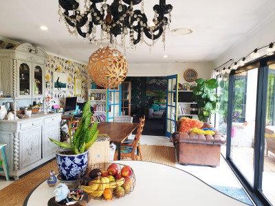 Melanie and Andrew's Waitara home is a vibrant work of art