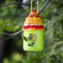 Bird feeder, kids, children, DIY, garden, Resene testpots, green, outdoors