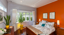Corrine and Emanuel's bungalow goes bold with colour photo