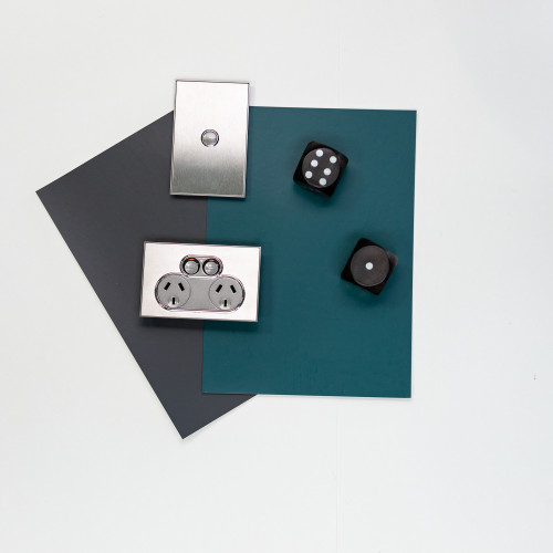 interior lighting ideas, sliver light switch, resene porter, resene fast forward, black and blue