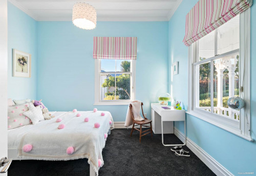 childrens bedroom, kids bedroom, blue bedroom, girls bedroom, pastel blue bedroom