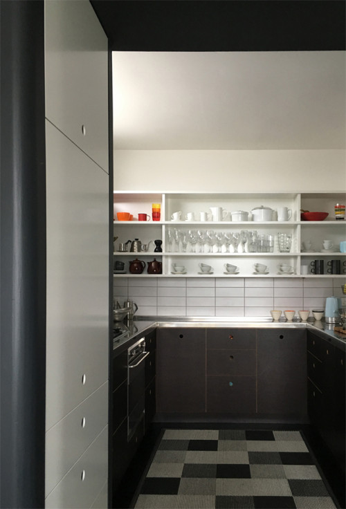 black, white, kitchen, grey