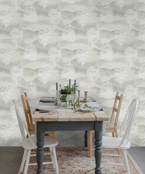 dining room inspiration, wallpaper inspiration, wallpaper feature wall, neutral interior ideas