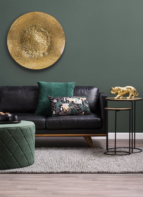 lounge, living room, green feature wall, green living room, green lounge, green and gold