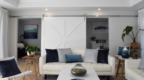 lounge inspiration, living room ideas, barn style door, home office ideas, home office design