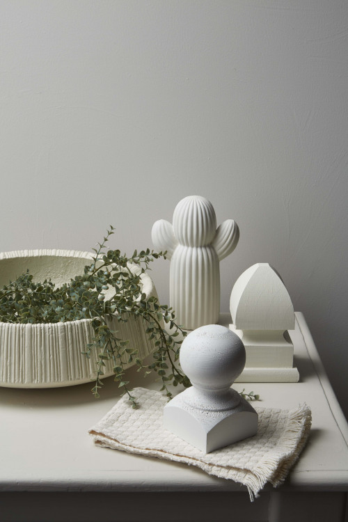 white colour palette, table display, interior styling, white paint, tone, Resene eighth tea