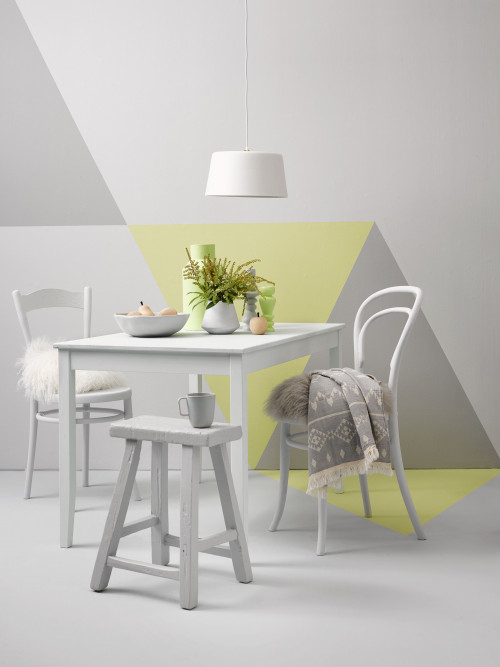 geometric wall ideas, painting interior ideas, dining room inspiration, feature wall inspiration