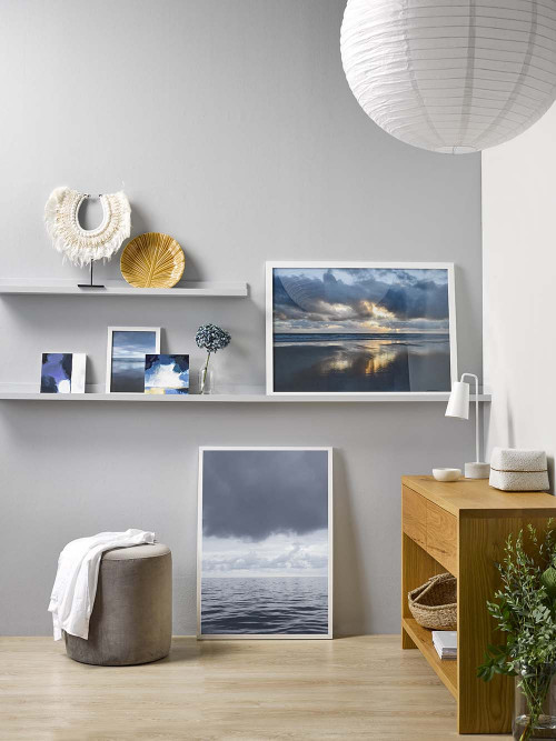 styling shelves, art work, artwork, grey, neutral, neutrals