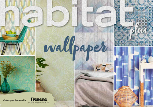 habitat plus, wallpaper, diy, resene