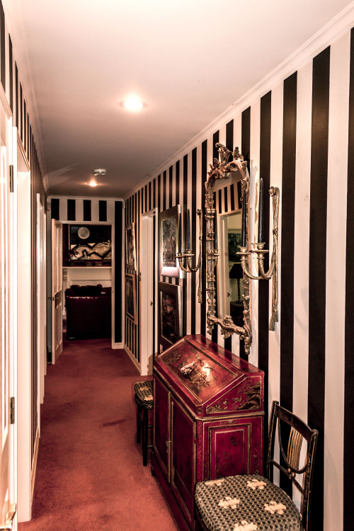 painted stripes, hallway, entrance way,