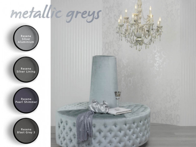 metallic greys, silver paint, interior, shades of greys, home decorating ideas