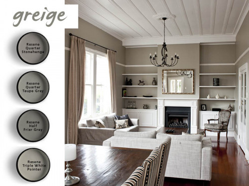 lounge, living room, grey, beige, greige, interior, shades of grey, paint, grey-brown tones