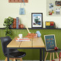 home office inspiration, home office ideas, home office design, magnetic paint ideas, study ideas