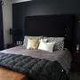 master bedroom, black, art deco, paint ideas, paint trends