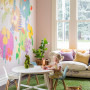 flower mural, mural, wallpaper, kids, children