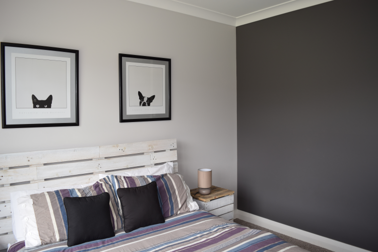 black and white, black, white, bedroom, teenage bedroom, paint ideas, charcoal paint