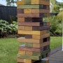 jumbo jenga, diy jenga, outdoor games, coloured jenga, outdoor jenga, resene stains