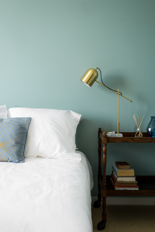bedroom inspiration, bedroom ideas, bedroom design, blue bedroom ideas, restful interior ideas