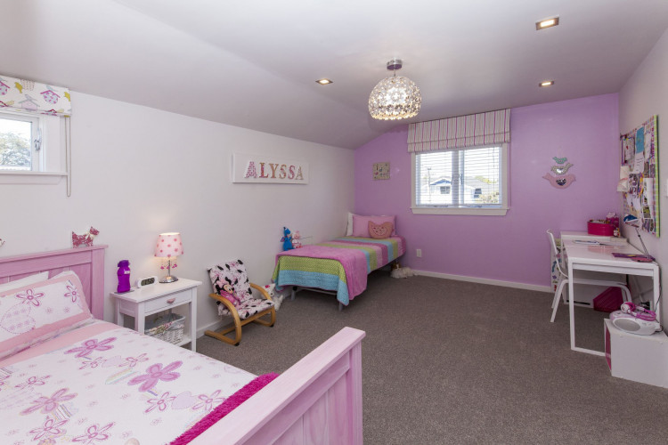 children's bedroom, kids bedroom, girls bedroom, pink bedroom, purple bedroom, feature wall