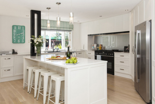 kitchen, white kitchen, modern kitchen, white paint, Resene Alabaster