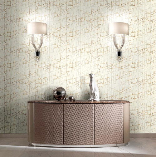 wallpaper inspiration, wallpaper ideas, wallpaper design, metallic wallpaper, interior lighting idea