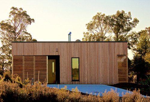 modern bach, modern cabin, contemporary cabin, new zealand bach
