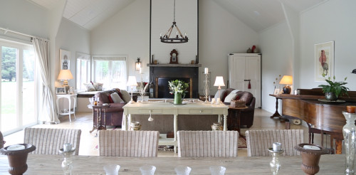 living room, dining room, lounge, neutrals, white living area, grand, barn style, elegant