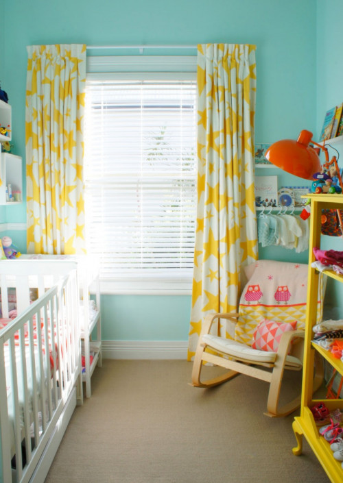 blue nursery, aqua nursery, turquoise bedroom, children's bedroom