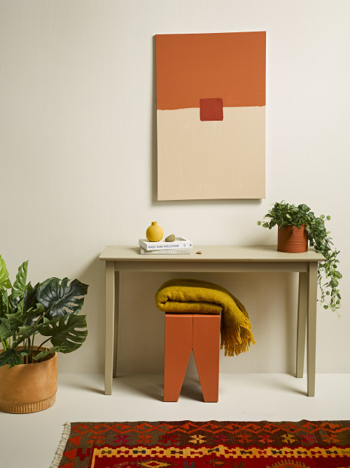 Table, Desk inspiration, Wall art, Indoor Plants, Rugs, Small Space Decorating, Resene