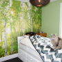children, bedroom, kid's bedroom, green, forest wallpaper