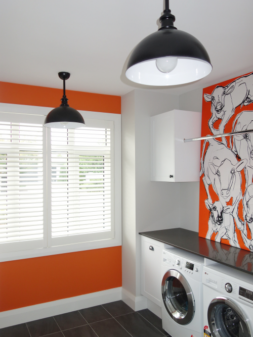 Marimekko, laundry, orange paint,