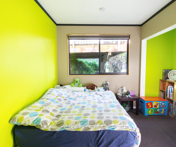 bright bedroom ideas, fluoro green bedroom, fluoro green interior, kids bedroom ideas, resene