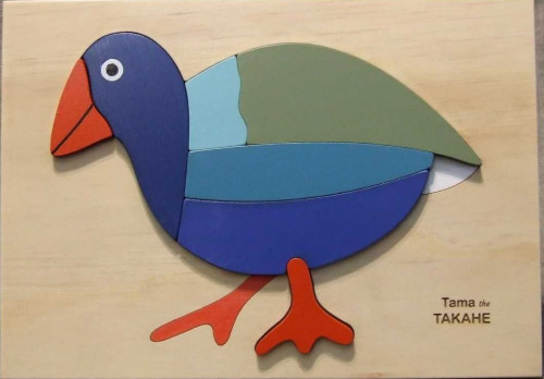 all a buzz, takahe puzzle, kids, children puzzle, resene puzzle, bird puzzle, gift ideas
