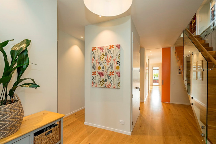 hallway inspiration, hallway design, open living ideas, open plan living inspiration, resene