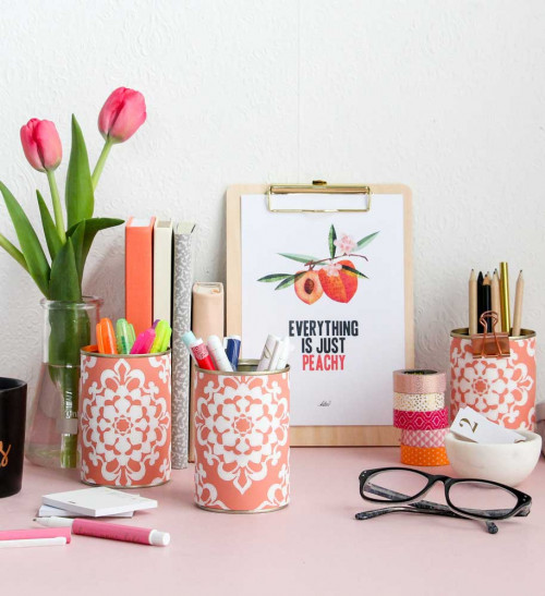 wallpaper, diy, pen pots, resene