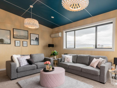 This striking Alexandra home makes a case for blue ceilings