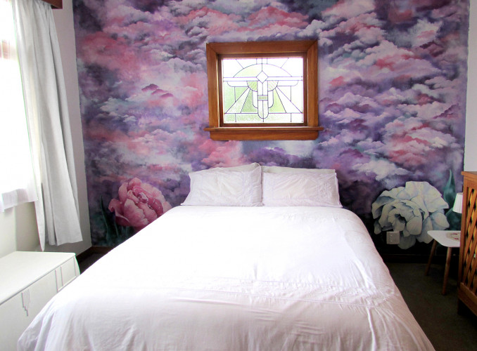 Home Mural, Stained Glass, Pink Bedroom, Purple Bedroom