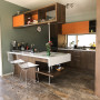 Retro Kitchen, Orange and Green, Mad Men Home, Mid Century Design