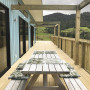 Blue House, Outdoor Deck, Country Home, Outdoor Dining
