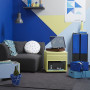 Media Room, Blue and Yellow Room, Blue Interiors