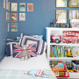 kids bedroom blue wall
