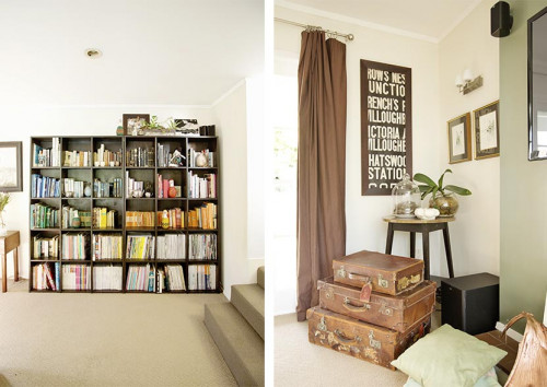 Resene Rice Cake living room bookcase