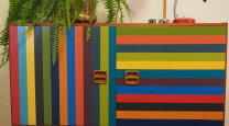 Create your own retro striped sideboard