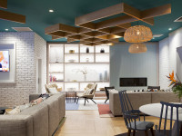 Designworks' hotel lobby redesign welcomes visitors to a home away from home